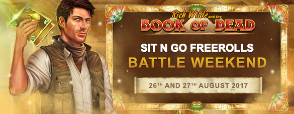 Book of Dead Sit and Go free roll battles