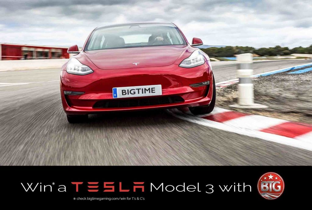 Win a Tesla Model 3 with Big Time Gaming