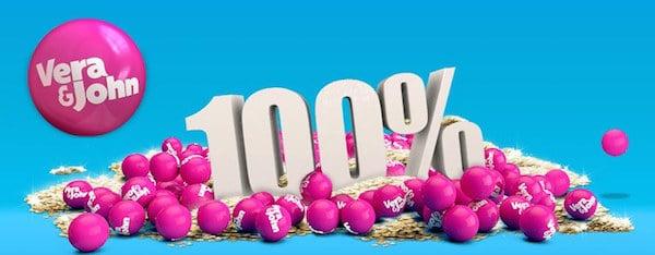 Vera & John 100% Deposit Match